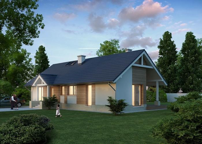 дом из сип H1-115 м2