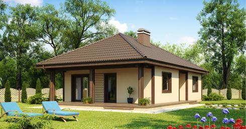 дом из сип H1-110 м2