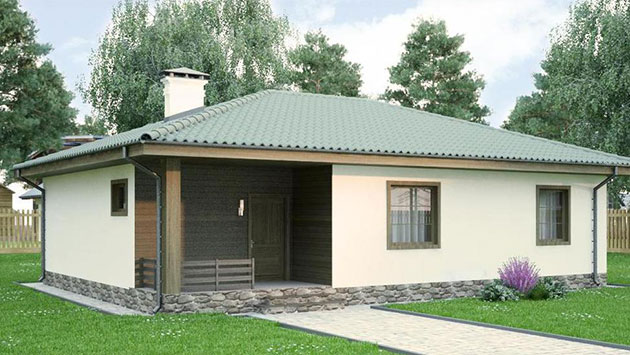 дом из сип H1-125 м2