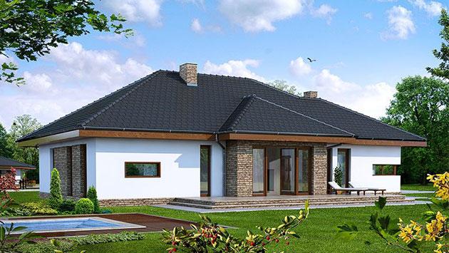 дом из сип H1-181 м2
