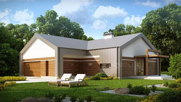 дом из сип H1-198 м2