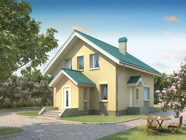 дом из сип H2-130 м2