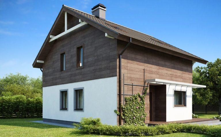 дом из сип H2-134 м2