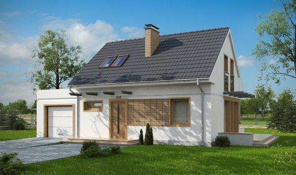 дом из сип H2-147 м2