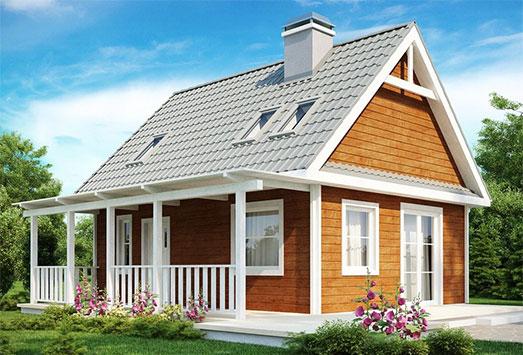 дом из сип H2-125 м2
