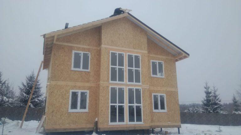Строительство двухэтажного дома. Московская область г. Ступино