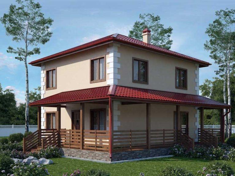 дом из сип H2-156 м2