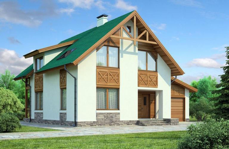 дом из сип H2-183 м2
