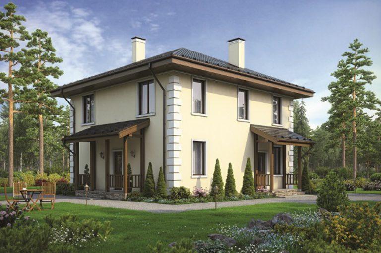 дом из сип H2-184 м2