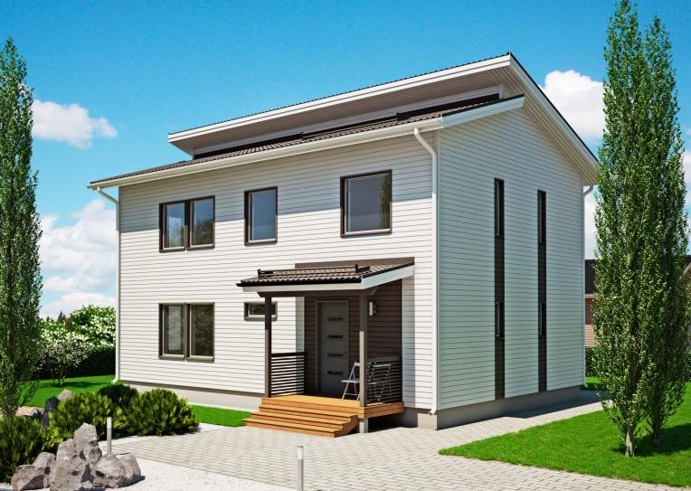 дом из сип H2-191 м2