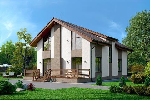 дом из сип H2-199 м2