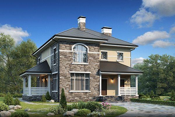 дом из сип H2-197 м2